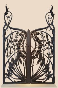 An Art Nouveau gate