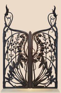 An Art Nouveau gate